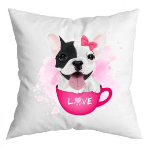 Szerelmes francia bulldog párna